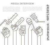 microphone vector | Shutterstock .eps vector #489158569