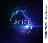 happy new 2017 year. vector...   Shutterstock .eps vector #489160867