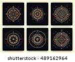 sacred geometry design set  ... | Shutterstock .eps vector #489162964