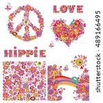 Set For Hippie Wallpaper With...