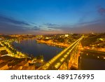 view of porto at a summer night | Shutterstock . vector #489176995