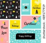 christmas sale backgrounds ... | Shutterstock .eps vector #489177919