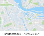 amsterdam colored vector map | Shutterstock .eps vector #489178114