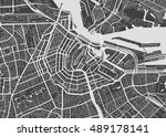 vector detailed map amsterdam | Shutterstock .eps vector #489178141