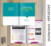 brochure template design with... | Shutterstock .eps vector #489182569