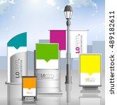 outdoor advertising design for... | Shutterstock .eps vector #489182611