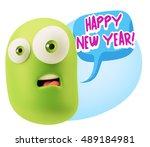 3d rendering surprise character ...   Shutterstock . vector #489184981