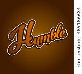 humble logo type | Shutterstock .eps vector #489186634