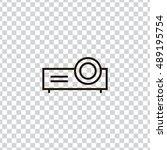 projector icon vector  clip art....