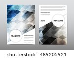 brochure layout template flyer... | Shutterstock .eps vector #489205921
