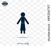 woman icon   vector... | Shutterstock .eps vector #489206797