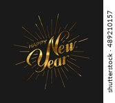 happy new 2017 year. holiday... | Shutterstock .eps vector #489210157