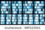 set of metal gradients in blue... | Shutterstock .eps vector #489223561