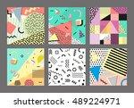 retro vintage 80s or 90s...   Shutterstock . vector #489224971