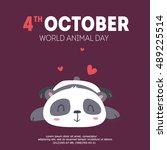 vector wold animal day... | Shutterstock .eps vector #489225514