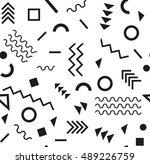 retro vintage 80s or 90s... | Shutterstock . vector #489226759
