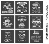 health. typography quotes. | Shutterstock .eps vector #489228037