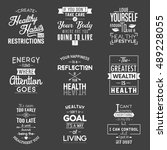health. typography quotes. | Shutterstock .eps vector #489228055