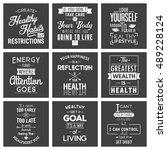health. typography quotes. | Shutterstock .eps vector #489228124