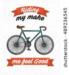 bicycle vehicle retro icon... | Shutterstock .eps vector #489236545