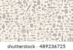 seamless one color pattern made ... | Shutterstock .eps vector #489236725
