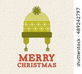 merry christmas holiday... | Shutterstock .eps vector #489242797