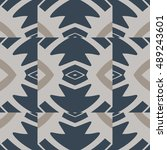 abstract geometric pattern... | Shutterstock .eps vector #489243601
