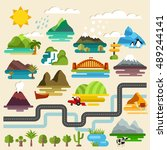 vector landscapes set | Shutterstock .eps vector #489244141