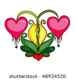 heart flowers | Shutterstock .eps vector #48924520