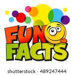 fun facts inscription. vector... | Shutterstock .eps vector #489247444