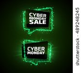 set of cyber monday promotion... | Shutterstock .eps vector #489248245