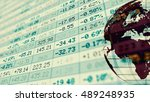 conceptual display of stock... | Shutterstock . vector #489248935