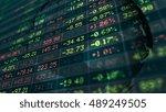 conceptual display of stock... | Shutterstock . vector #489249505