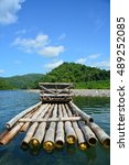 A Bamboo Raft On The Rio Grand...