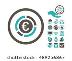 euro financial diagram... | Shutterstock .eps vector #489256867