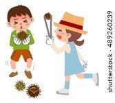 children to be picking up... | Shutterstock .eps vector #489260239