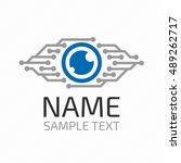 cyber eye symbol vector icon or ... | Shutterstock .eps vector #489262717