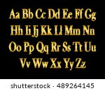 english alphabet  signs and... | Shutterstock .eps vector #489264145