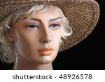 lady with the straw hat | Shutterstock . vector #48926578