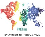 peace  friendship and love.... | Shutterstock .eps vector #489267427
