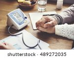 health care risk assessment... | Shutterstock . vector #489272035