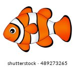 reef fish   clown fish fish... | Shutterstock .eps vector #489273265