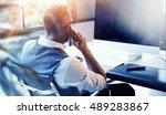 closeup bearded businessman...   Shutterstock . vector #489283867
