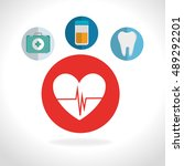 medical icon set | Shutterstock .eps vector #489292201
