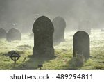 Misty Graveyard Crosses And...