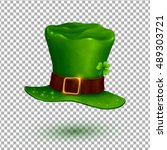 green vector soft leprechaun... | Shutterstock .eps vector #489303721