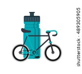 sports bottle and bike  icon | Shutterstock .eps vector #489305905