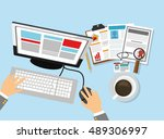 business related icons image  | Shutterstock .eps vector #489306997