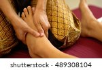 thai foot massage  spa concept | Shutterstock . vector #489308104