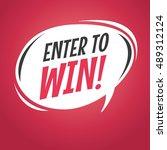 enter to win retro speech... | Shutterstock .eps vector #489312124